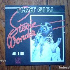 Discos de vinilo: STEVIE WONDER - THAT GIRL + ALL I DO . Lote 122584211