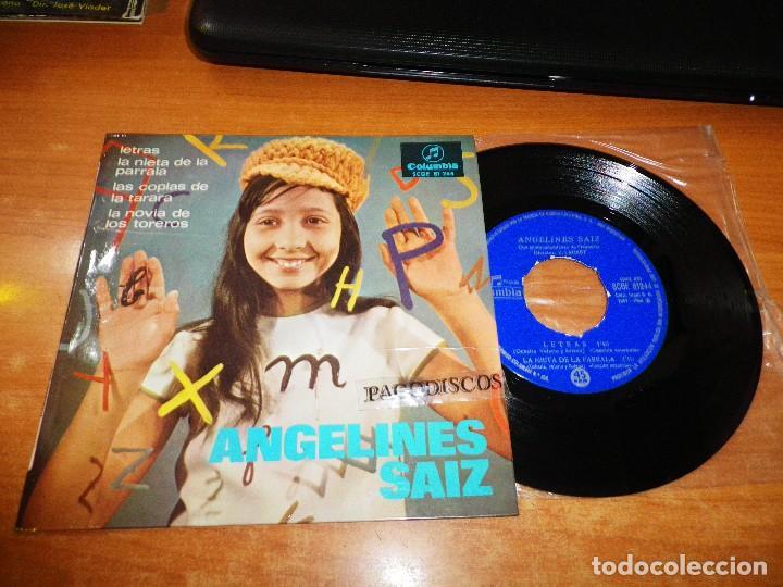 ANGELINES SAIZ LETRAS / LAS COPLAS DE LA TARARA EP VINILO DEL AÑO 1966 COLUMBIA CONTIENE 4 TEMAS (Música - Discos de Vinilo - EPs - Flamenco, Canción española y Cuplé)