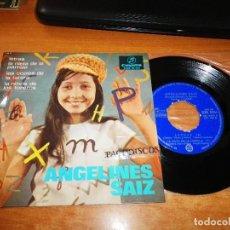Discos de vinilo: ANGELINES SAIZ LETRAS / LAS COPLAS DE LA TARARA EP VINILO DEL AÑO 1966 COLUMBIA CONTIENE 4 TEMAS. Lote 122584227