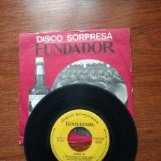Discos de vinilo: DISCO SORPRESA FUNDADOR. PROMOCIÓN 1968/1969.. Lote 122587752