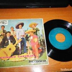Discos de vinilo: CHINACO CARVAJAL VOL 2 ANILLO DE COMPROMISO MARIACHI WALDEMAR GOMES EP VINILO 1962 ESPAÑA CUBALEGRE. Lote 122595115