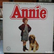 Discos de vinilo: ANNIE - BANDA SONOR ORIGINAL DE LA PELÍCULA ANNIE (VERSIÓN EN ESPAÑOL) - LP. DEL SELLO CBS DE 1982. Lote 140424865