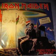 Discos de vinilo: IRON MAIDEN: 2 MINUTES TO MIDNIGHT- MAXI INGLES MUY NUEVO!!!. Lote 122609215