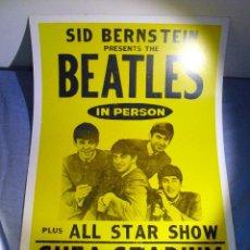 Discos de vinilo: LOS BEATLES: SHEA STADIUM- AGOSTO 1965- POSTER GIGANTE EN CARTULINA GRUESA-IDEAL. Lote 122610835