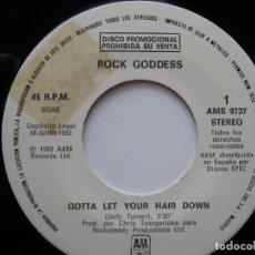 Discos de vinilo: ROCK GODDES: GOTTA LET YOUR HAIR DOWN / GIRLSCHOOL, IRON MAIDEN, VIXEN, PAT BENATAR, CHEETAH.... Lote 122645131