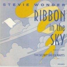 Dischi in vinile: STEVIE WONDER - RIBBON IN THE SKY / THE SECRET LIFE OF PLANTS (SINGLE ESPAÑOL, MOTOWN 1982). Lote 122648375