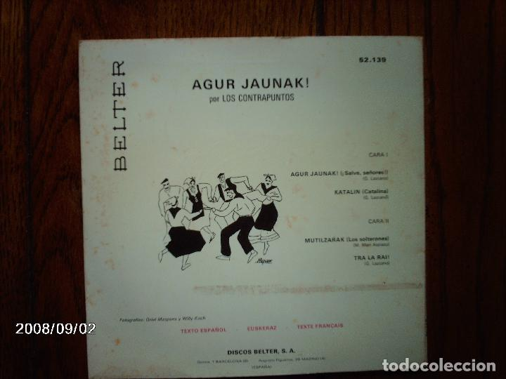 Discos de vinilo: los contrapuntos - agur jaunak + katalin + mutilzarrak + tra la rai - Foto 3 - 122650151