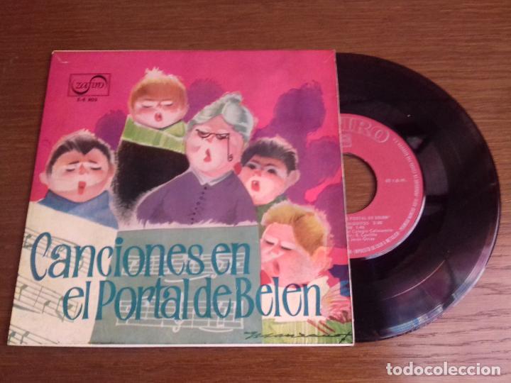 SINGLE - RONDALLA Y COROS DEL COLEGIO CALASANCIO DE MADRID - CANCIONES EN EL PORTAL DE BELÉN (Música - Discos - Singles Vinilo - Música Infantil)