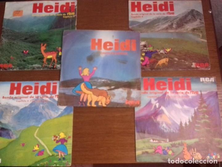 SINGLE - HEIDI - LOTE 5 SINGLES HEIDI - AÑO 1975 - EDICIÓN ESPAÑOLA (Música - Discos - Singles Vinilo - Música Infantil)