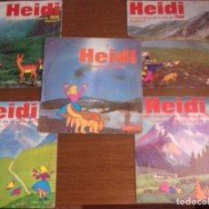 Discos de vinilo: SINGLE - HEIDI - LOTE 5 SINGLES HEIDI - AÑO 1975 - EDICIÓN ESPAÑOLA. Lote 38380016