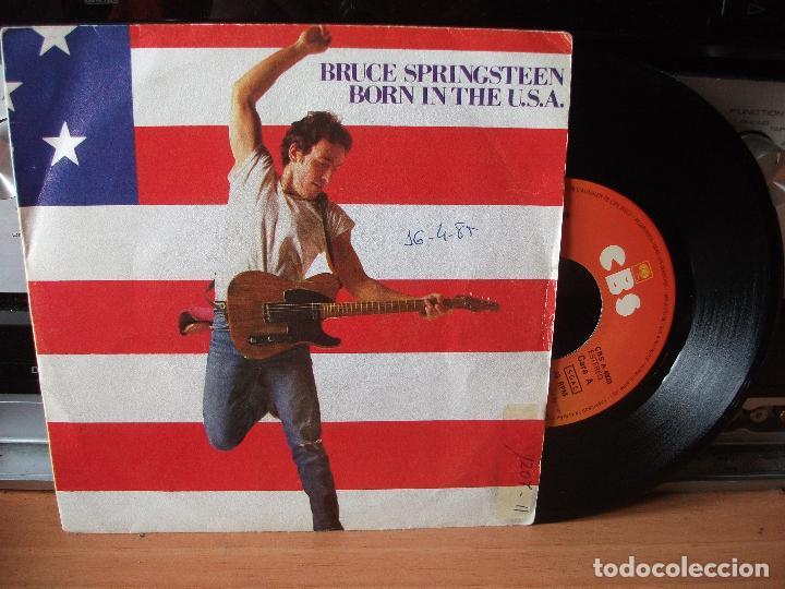 BRUCE SPRINGSTEEN BORN IN THE USA SINGLE SPAIN 1984 PDELUXE (Música - Discos de Vinilo - Singles - Pop - Rock Extranjero de los 80)