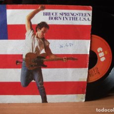 Discos de vinilo: BRUCE SPRINGSTEEN BORN IN THE USA SINGLE SPAIN 1984 PDELUXE. Lote 122660439