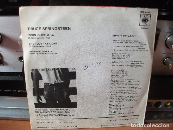 Discos de vinilo: BRUCE SPRINGSTEEN BORN IN THE USA SINGLE SPAIN 1984 PDELUXE - Foto 2 - 122660439
