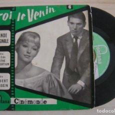 Discos de vinilo: A. GOSSELAIN -TOI LE VENIN (BANDE ORIGINALE DU FILM PATHÉ-CONSORTIUM) - EP FRANCES - FONTANA. Lote 122675003