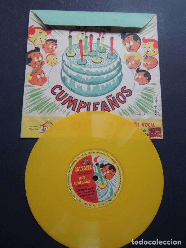 ORQUESTA CALESITA / FELICIDADES - CUMPLEAÑOS / LUZ BERMEJO - ALBERTO CLOSAS - AUGUSTO CODECA (Música - Discos - Singles Vinilo - Música Infantil)