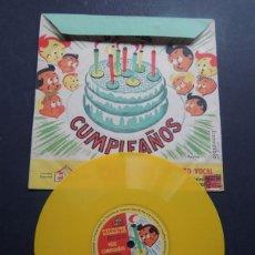 Discos de vinilo: ORQUESTA CALESITA / FELICIDADES - CUMPLEAÑOS / LUZ BERMEJO - ALBERTO CLOSAS - AUGUSTO CODECA. Lote 122679643
