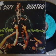 Discos de vinilo: SUZI QUATRO - DEVIL GATE DRIVE + IN THE MORNING - SINGLE 1974 - ODEON. Lote 122679839