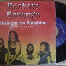 Discos de vinilo: ROCKERS REVENGE - WALKING ON SUNSHINE + ROCKIN - SINGLE 1982 - LONDON. Lote 122686815