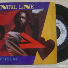 Discos de vinilo: CENTRAL LINE - DON'T TELL ME + SHAKE IT UP - SINGLE UK 1981. Lote 122692095