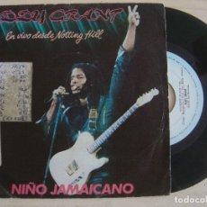 Discos de vinilo: EDDY GRANT - JAMAICAN CHILD /NIÑO JAMAICANO + COCKNEY BLACK - SINGLE ESPAÑOL 1982 - ICE. Lote 122692699
