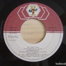 Discos de vinilo: ALPHAVILLE - JET SET + GOLDEN FEELING - SINGLE ESPAÑOL 1985 - BABY. Lote 122694303