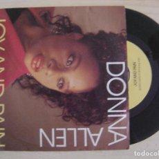 Discos de vinilo: DONNA ALLEN - JOY AND PAIN - SINGLE ALEMAN - BCM. Lote 122696531