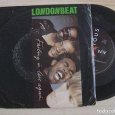 Discos de vinilo: LONDONBEAT - FAILING IN LOVE AGAIN + JERK - SINGLE UK 1988 - ANXIOUS. Lote 122699423