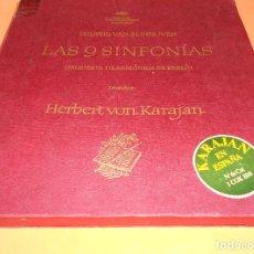 Discos de vinilo: BEETHOVEN - LAS 9 SINFONÍAS EN 8 DISCOS - EDICION DEUSTCHE GRAMOFON 1966. - HERBERT VON KARAJAN. Lote 122705339