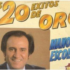 Discos de vinilo: LOS 20 EXITOS DE ORO DE MANOLO ESCOBAR . Lote 122707347