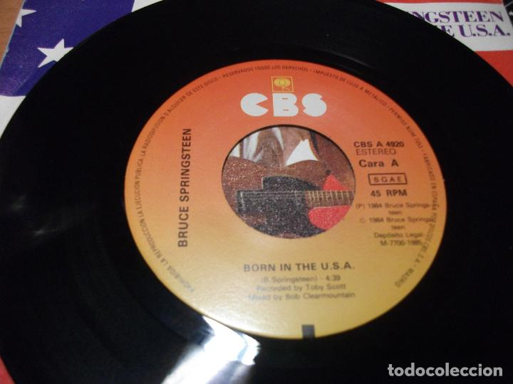 Discos de vinilo: BRUCE SPRINGSTEEN BORN IN THE USA SINGLE SPAIN 1984 PDELUXE - Foto 3 - 122660439