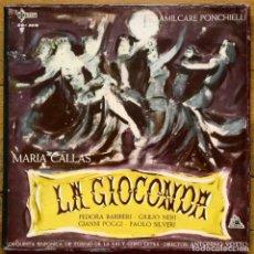 Discos de vinilo: CAJA 3 LP - MARIA CALLAS LA GIOCCONDA / DIR: ANTONIO VOTTO (SAEF-CETRA, 1962). Lote 122750767