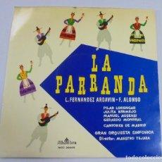 Discos de vinilo: LP. LA PARRANDA. L.FERNANDEZ ARDAVIN / F.ALONSO. GRAN ORQUESTA SINFONICA. ALHAMBRA. Lote 122761015