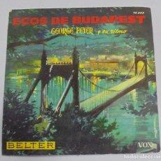 Discos de vinilo: ECOS DE BUDAPEST. GEORGE FEYER Y SU RITMO. BELTER. 1959. Lote 122761867