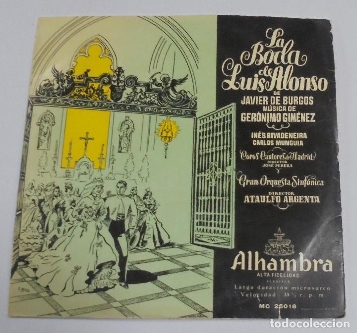 LA BODA DE LUIS ALONSO. JAVIER DE BURGOS. ALHAMBRA. (Música - Discos de Vinilo - EPs - Clásica, Ópera, Zarzuela y Marchas)