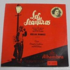 Discos de vinilo: LAS LEANDRAS. CELIA GAMEZ Y COROS. ALHAMBRA.. Lote 122762491