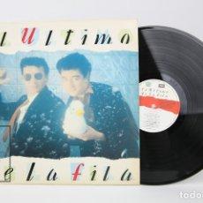 Discos de vinilo: DISCO LP DE VINILO - EL ULTIMO DE LA FILA / NUEVO PEQUEÑO CATÁLOGO DE SERES Y ESTARES - EMI AÑO 1990. Lote 122778699