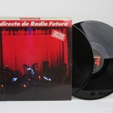 Discos de vinilo: DOBLE DISCO LP DE VINILO - EL DIRECTO DE RADIO FUTURA / ESCUELADECALOR - ARIOLA - AÑO 1989. Lote 122778772
