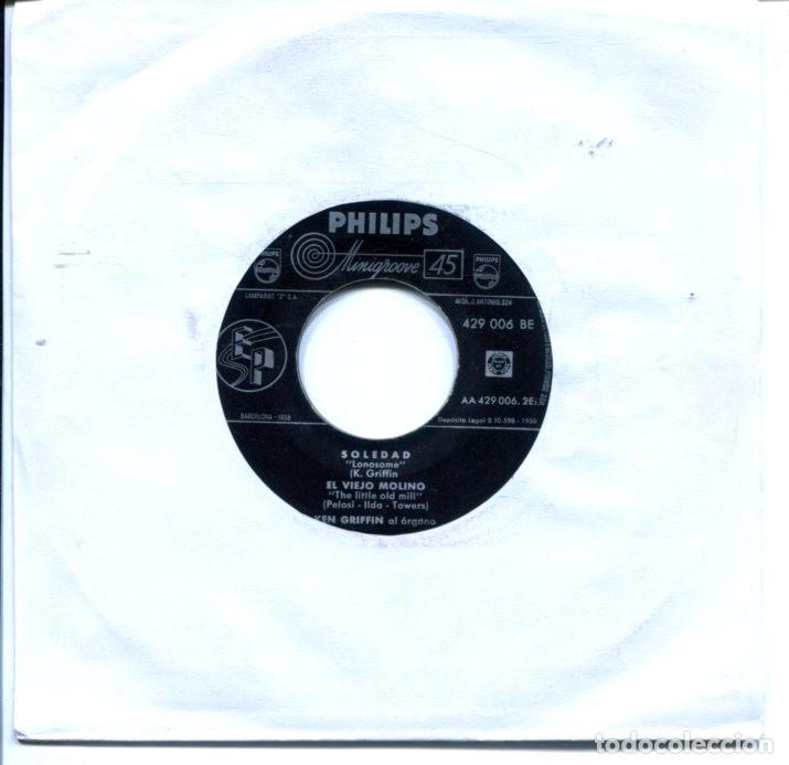 KEN GRIFFIN (ORGANO) / SOLEDAD / EL VIEJO MOLINO / NO SE POR QUE + 1 (EP  1958)