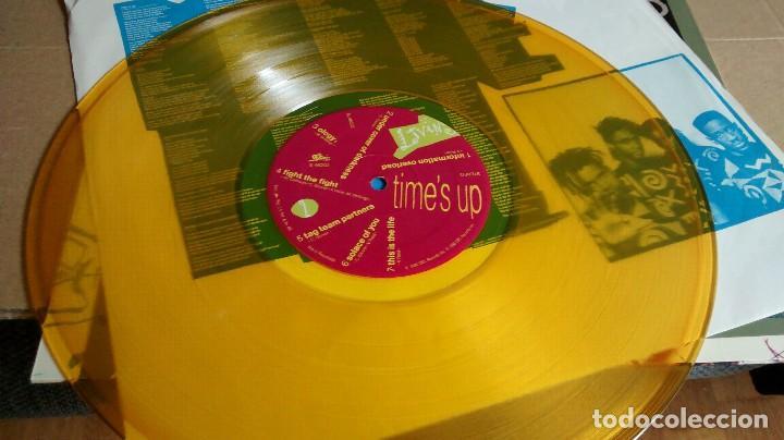 Discos de vinilo: LIVING COLOUR - TIME´S UP - EDICIÓN VINILO AMARILLO - Foto 4 - 122794923