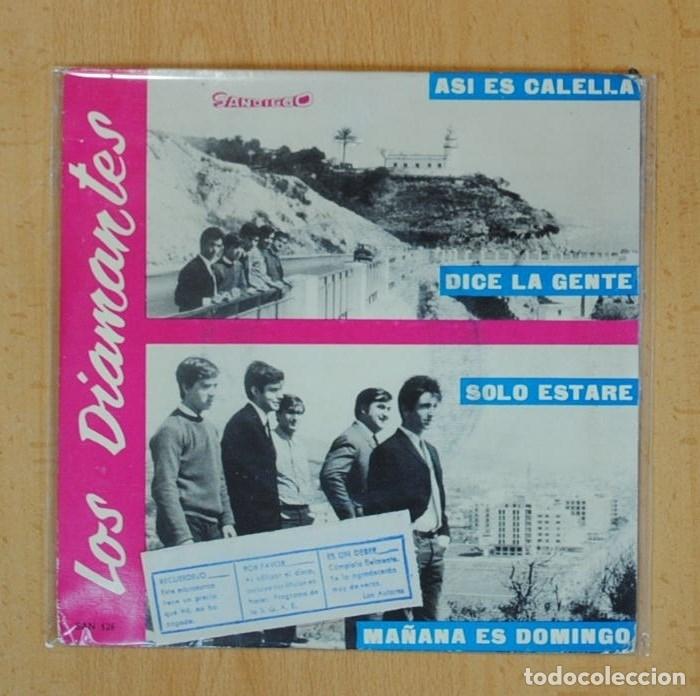 LOS DIAMANTES - ASI ES CALELLA + 3 - EP (Música - Discos - Singles Vinilo - Solistas Españoles de los 50 y 60)