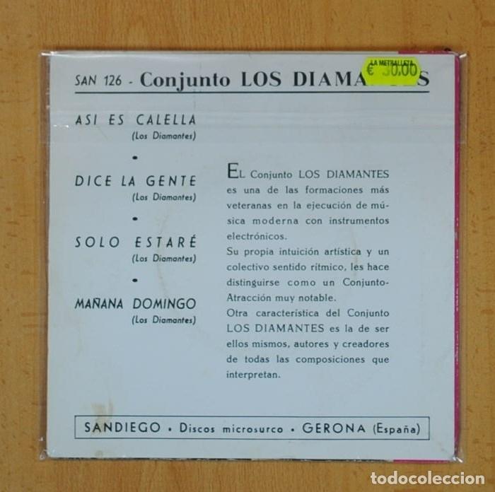 Discos de vinilo: LOS DIAMANTES - ASI ES CALELLA + 3 - EP - Foto 2 - 122796260