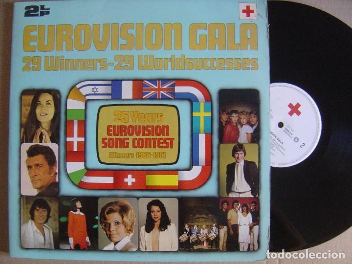VARIOS - DOBLE LP EUROVISION GALA 29 WINNERS - 1981 - CRUZ ROJA - PORTADA DOBLE - VER ARTISTAS (Música - Discos - LP Vinilo - Festival de Eurovisión)