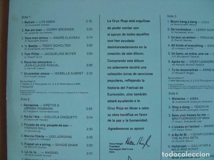 Discos de vinilo: VARIOS - DOBLE LP EUROVISION GALA 29 WINNERS - 1981 - CRUZ ROJA - PORTADA DOBLE - VER ARTISTAS - Foto 2 - 122797331