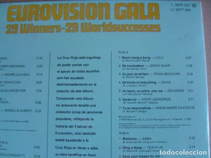 Discos de vinilo: VARIOS - DOBLE LP EUROVISION GALA 29 WINNERS - 1981 - CRUZ ROJA - PORTADA DOBLE - VER ARTISTAS - Foto 4 - 122797331