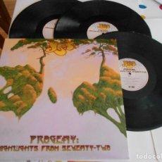 Discos de vinilo: YES-PROGENY-TRIPLE LP-NUEVO. Lote 122809351