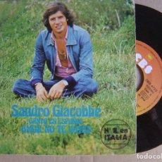 Discos de vinilo: SANDRO GIACOBBE - CANTA EN ESPAÑOL - AMOR NO TE VAYAS - SINGLE 1976 - CBS. Lote 122817091