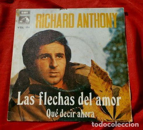 RICHARD ANTHONY (SINGLE 1969) LAS FLECHAS DEL AMOR (Música - Discos - Singles Vinilo - Solistas Españoles de los 50 y 60)