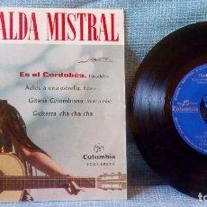 Discos de vinilo: ESMERALDA MISTRAL - ES EL CORDOBES / GUITARRA CHA CHA CHA + 2 EP COLUMBIA SCGE 80828 AÑO 1964. Lote 122845139