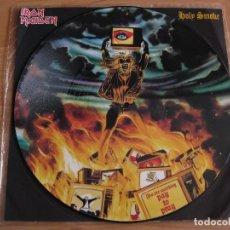 Discos de vinilo: IRON MAIDEN: HOLY SMOKE - PICTURE DISC / NWOBHM, HOLOCAUST, ANGELWITCH, SAXON, DIAMOND HEAD. Lote 122856295
