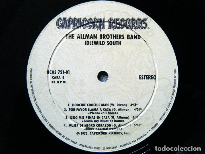 Discos de vinilo: THE ALLMAN BROTHERS BAND / IDLEWILD SOUTH. - Foto 2 - 122876447